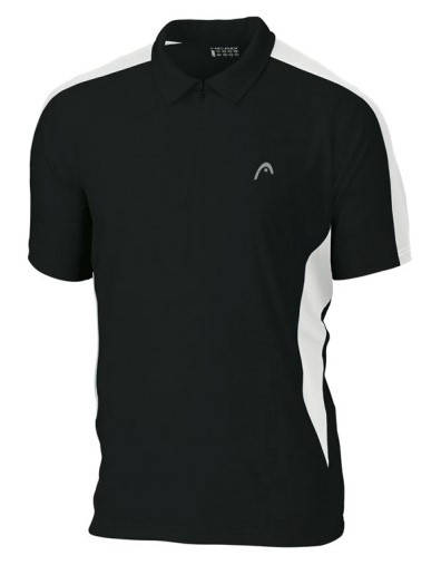 Мъжка Тениска HEAD Club Men Poloshirt Zip 100846 POLOSHIRT ZIP/811121-BKWH