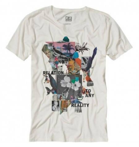 Мъжка Тениска GLOBE Dion No Reality Tee S13 100623 30308700668 - DIRTY WHITE