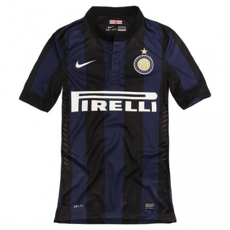 Официална Фланелка Интер INTER Mens Home Shirt 13-14 500892  изображение 2