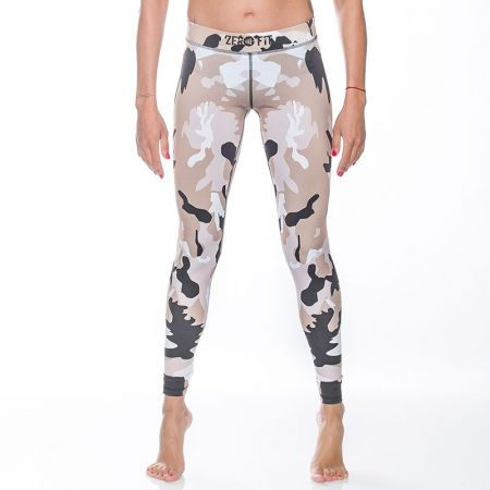 Дамски Клин ZERO FIT Training Tights Beige Camo 510959