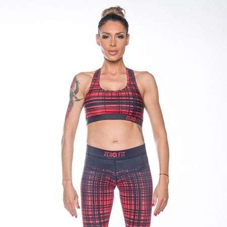 Дамско Бюстие ZERO FIT Sports Bra Red Stripes 510953