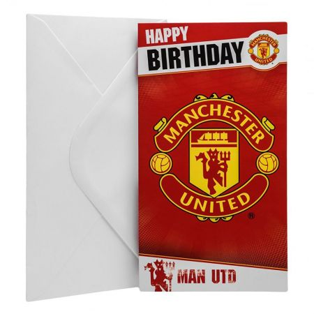 Картичка MANCHESTER UNITED Birthday Card 500739b w10carmu-z01carmu