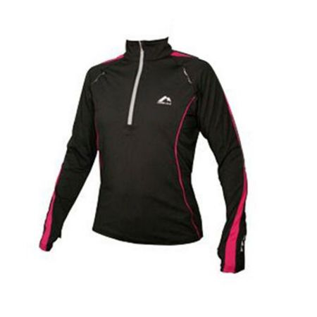 Дамски Суичър MORE MILE Hi-Viz Half Zip Running Ladies Top 508795  MM1198