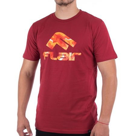 Мъжка Тениска FLAIR Fire Camo Logo T-Shirt 515549 176178