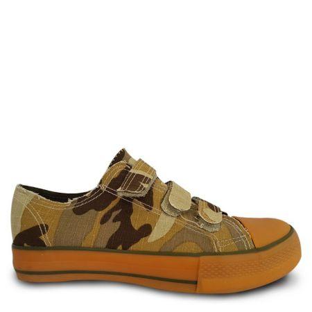 Дамски Кецове GUGGEN COAST Trampki Sneakers Camo Bej 510922