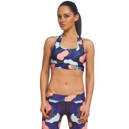 Дамско Бюстие ZERO FIT Sports Bra Pink Patches 511724