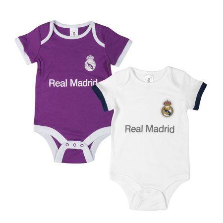 Бебешки Дрехи REAL MADRID 2 Pack Bodysuit 509604