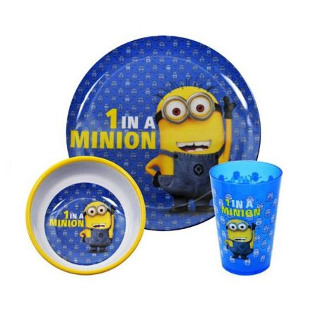 Комплект За Хранене DESPICABLE ME 1 In A Minion 3PC Dinner Set 501328