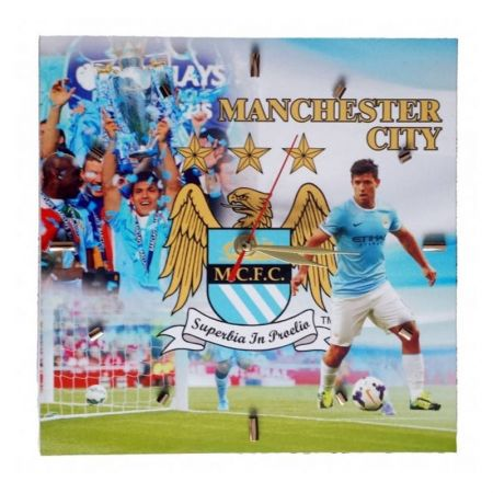 Стенен Часовник MANCHESTER CITY Wall Clock Aguero PKS 500944a