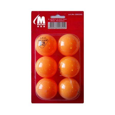 Топчета За Тенис На Маса MAXIMA Balls For Table Tennis 6 Pcs 502192 200345-Оrange
