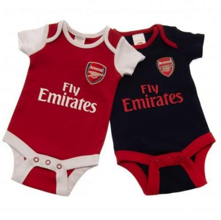 Бебешки Дрехи ARSENAL 2 Pack Bodysuit 500800a s10bdsarsnrf