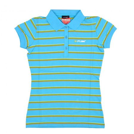 Дамска Тениска FLAIR Stripe Polo Shirt 512717 276031