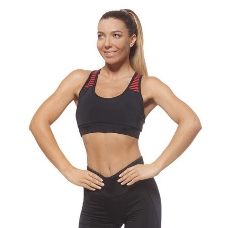 Дамско Бюстие EX FIT Sports Bra Black&Red 516004