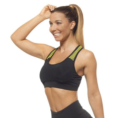 Дамско Бюстие EX FIT Sports Bra Black&Yellow 516005
