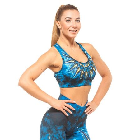 Дамско Бюстие EX FIT Sports Bra Golden Mandala 515225