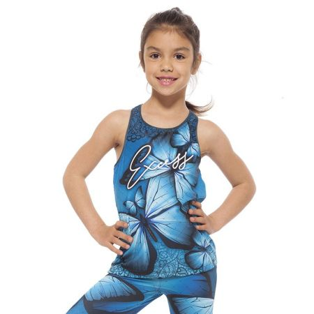 Детски Потник EX FIT Kids Top Blue Butterfly 516220