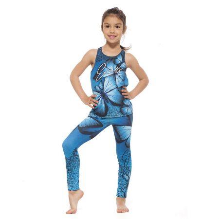 Детски Комплект Клин / Топ EXCESSWEAR Kids Sport Kit Blue Butterfly 516216
