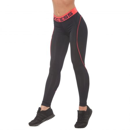 Дамски Клин EX FIT Legging Black&Coral Line 511141