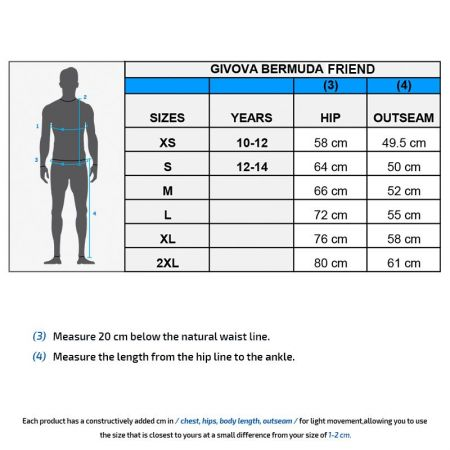 Мъжки Къси Панталони GIVOVA Bermuda Friend 0010 505101 P015 изображение 7
