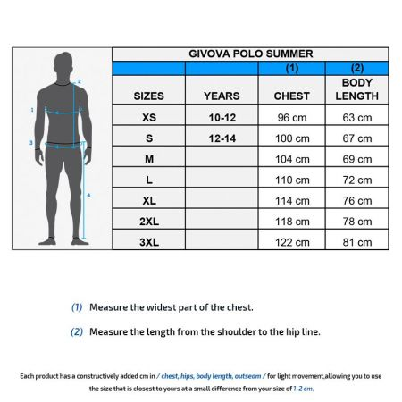 Мъжка Тениска GIVOVA Polo Summer 0012 505013 ma005 изображение 3