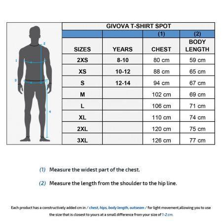 Мъжка Тениска GIVOVA T-Shirt Spot 0010 504999 ma008 изображение 3
