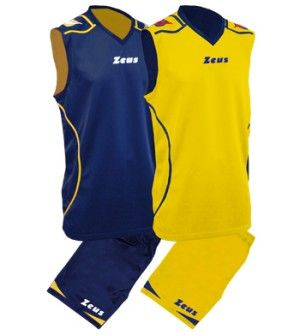 Баскетболен Екип ZEUS Reversible Kit Basket Fauno 0109 506149 Kit Basket Fauno