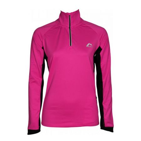 Дамски Суичър MORE MILE Vancouver 2 Womens Half Zip Thermal Running Top 514996 MM2938