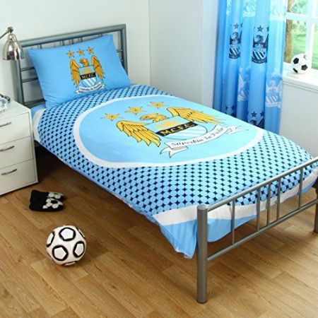 Спално Бельо MANCHESTER CITY Reversible Single Duvet Set BE 504234 11279