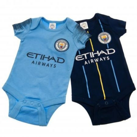 Бебешки Дрехи MANCHESTER CITY 2 Pack Bodysuit NV
