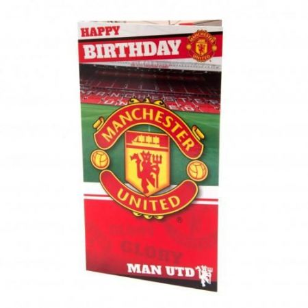 Картичка MANCHESTER UNITED Birthday Card Stadium 500739a x60cdfmausd