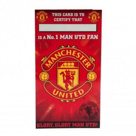 Картичка MANCHESTER UNITED Birthday Card No 1 Fan 503773  изображение 2