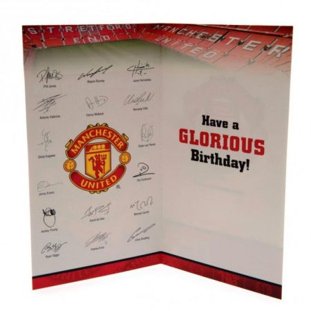 Картичка MANCHESTER UNITED Birthday Card No 1 Fan 503773  изображение 3