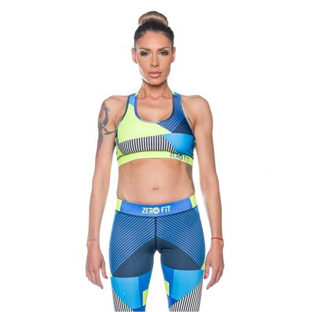 Дамско Бюстие ZERO FIT Sports Bra Neon Mess 510315