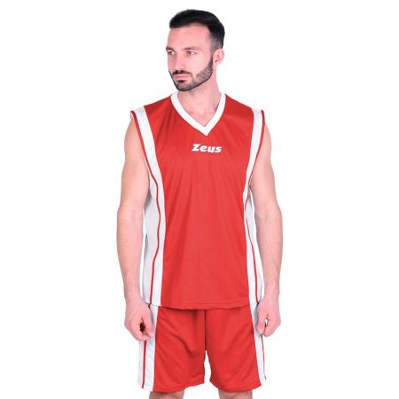 Баскетболен Екип ZEUS Kit Bozo Rosso/Bianco 506170 Kit Bozo
