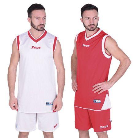 Двулицев Баскетболен Екип ZEUS  Kit Doblo Bianco/Rosso 506145 Kit Doblo