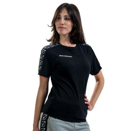 Дамска Тениска GIVOVA T-Shirt Cotton Band 0010 517332 BA01