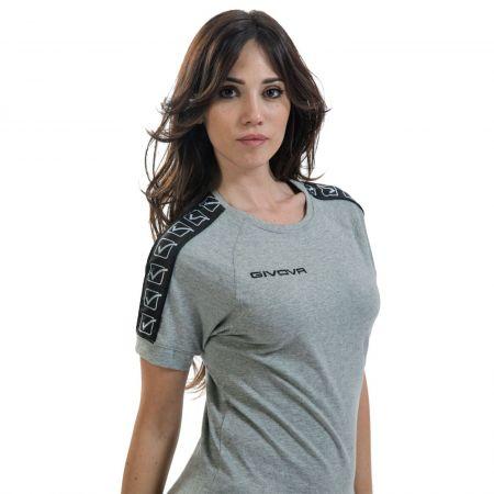 Дамска Тениска GIVOVA T-Shirt Cotton Band 0043 517331 BA01