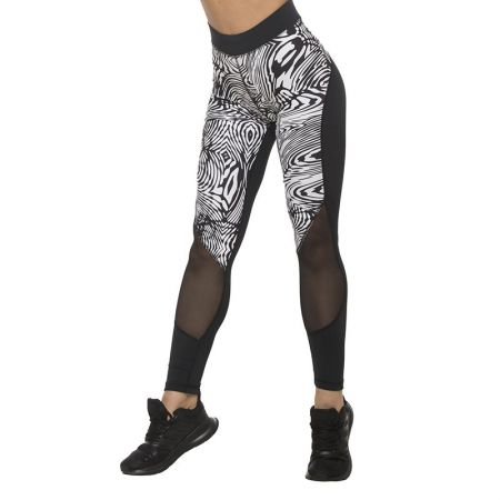 Дамски Клин EXCESSWEAR Sport Legging Black & White Spider 517379