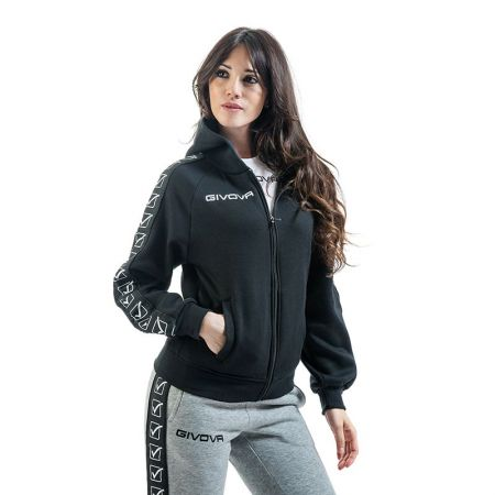 Дамски Суичър GIVOVA Felpa Full Zip Band 0010 517656 BA10
