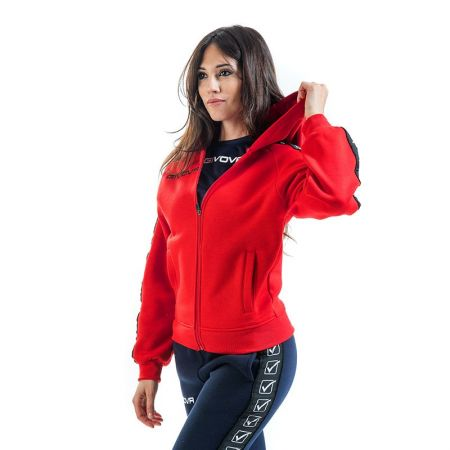 Дамски Суичър GIVOVA Felpa Full Zip Band 0012 517657 BA10