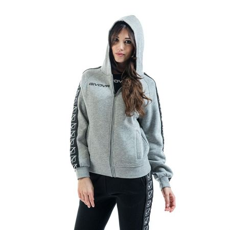 Дамски Суичър GIVOVA Felpa Full Zip Band 0043 517654 BA10