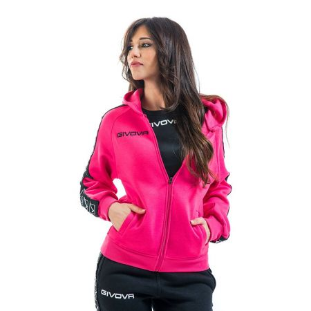 Дамски Суичър GIVOVA Felpa Full Zip Band 0006 517658 BA10