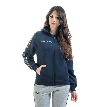 Дамски Суичър GIVOVA Felpa Full Zip Band 0004 517659 BA10