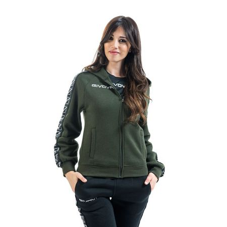 Дамски Суичър GIVOVA Felpa Full Zip Band 0051 517660 BA10