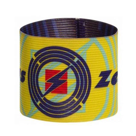 Двулицева Капитанска Лента ZEUS Fascia Capitano Double Blu/Giallo