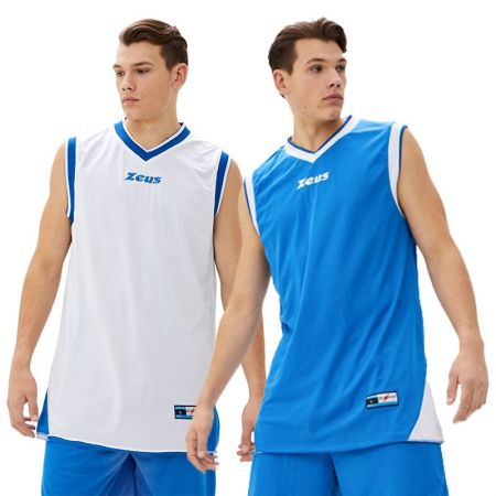 Двулицев Баскетболен Екип ZEUS Kit Doblo Royal/Bianco 506148 Kit Doblo