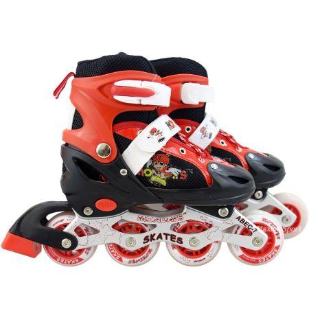 Детски Регулируеми Ролери MAXIMA Adjustable Rollers 34-37 509475 200103 -Red