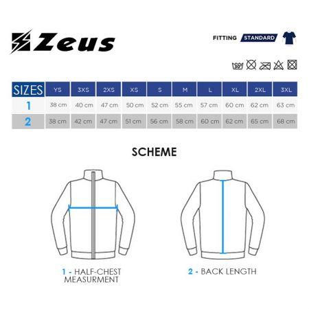 Мъжки Суичър ZEUS Felpa Demo Blu/Bianco 506651 Felpa Demo изображение 6