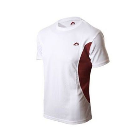 Мъжка Тениска MORE MILE  Elite Short Sleeve Mens Running Top 508378  MM-EliteSSTop-WhtBurg 0406-04