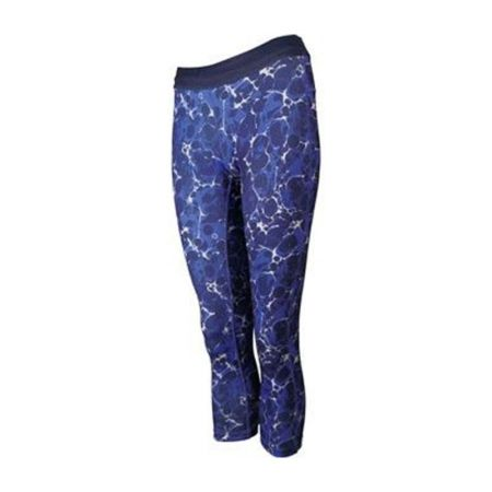 Дамски Клин MORE MILE Printed Ladies Running 3/4 Capri Tights